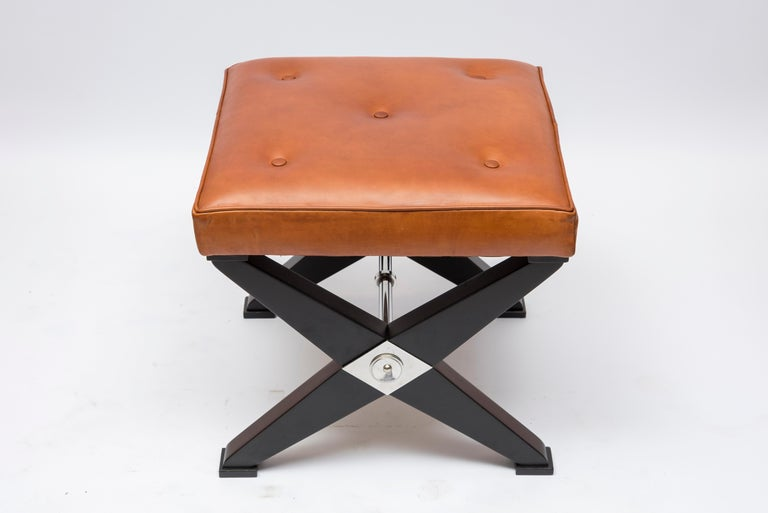 Pair of 1950s Neoclassic Stools in the Style of Jansen In Fair Condition For Sale In Bois-Colombes, FR
