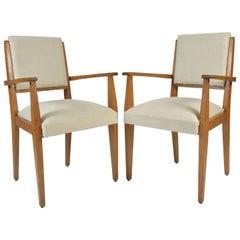 Pair of 1950s Oak Armchairs