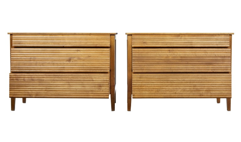 Pair of 1950s Scandinavian Teak Chest of Drawers 2