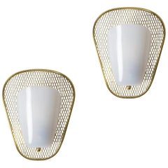 Pair of 1950s Sconces in the Manner of Jacques Biny