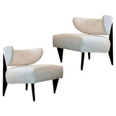 Pair of 1950's Sculptural Art Deco Lounge Chairs