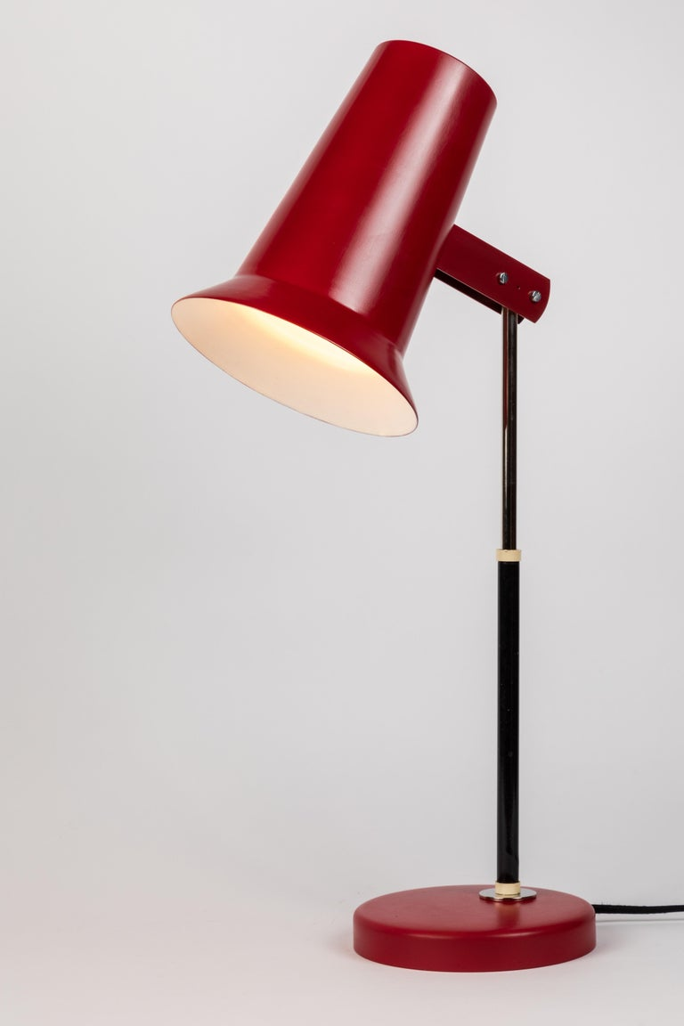 Pair Of 1950s Yki Nummi Red Table Lamps For Orno For Sale At 1stdibs