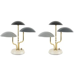 Pair of 1952 Gino Sarfatti Tricolore Table Lamps for Arteluce