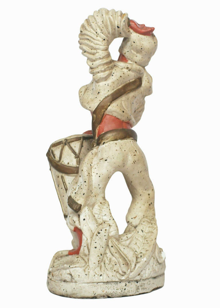 American Pair of 1955 Cuban Chalk Ware Statue For Sale