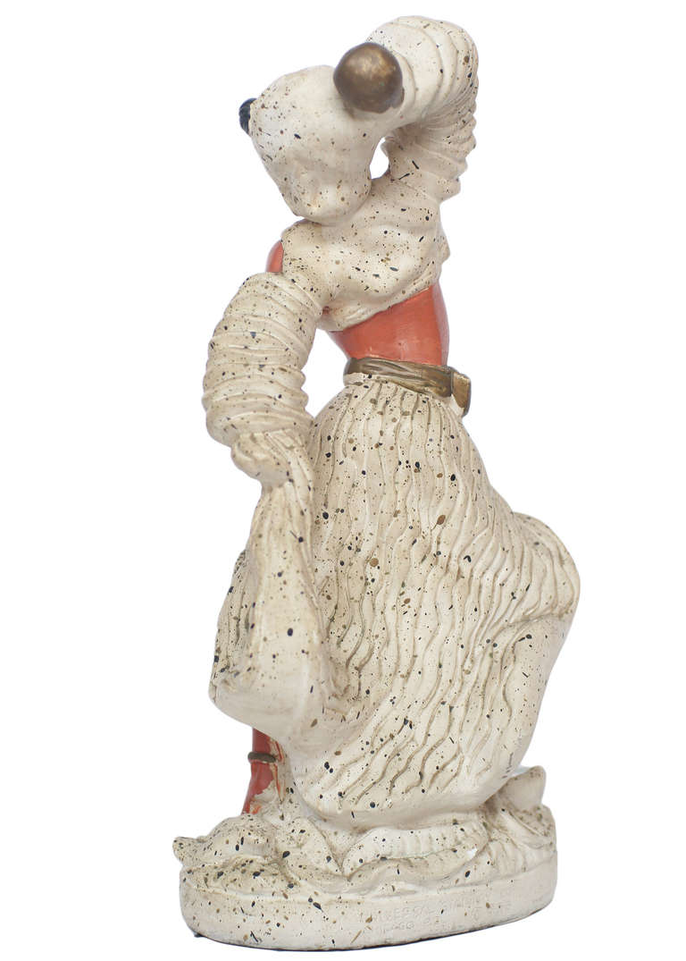 Ceramic Pair of 1955 Cuban Chalk Ware Statue For Sale