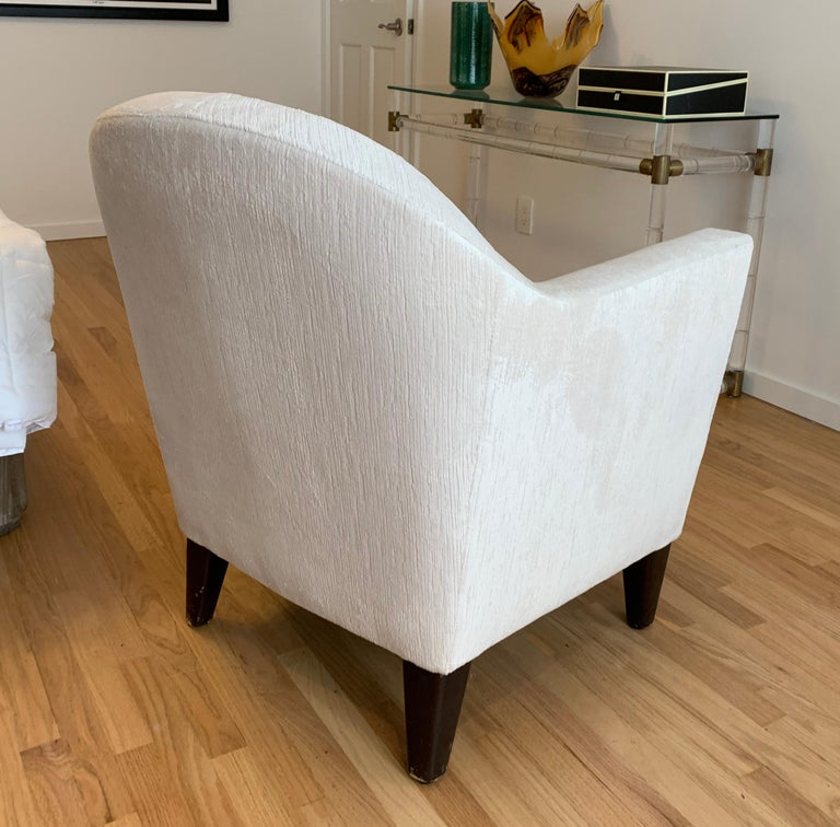 Pair of 1960s Armchairs in Cream Color Fabric, Newly Upholstered For Sale 4