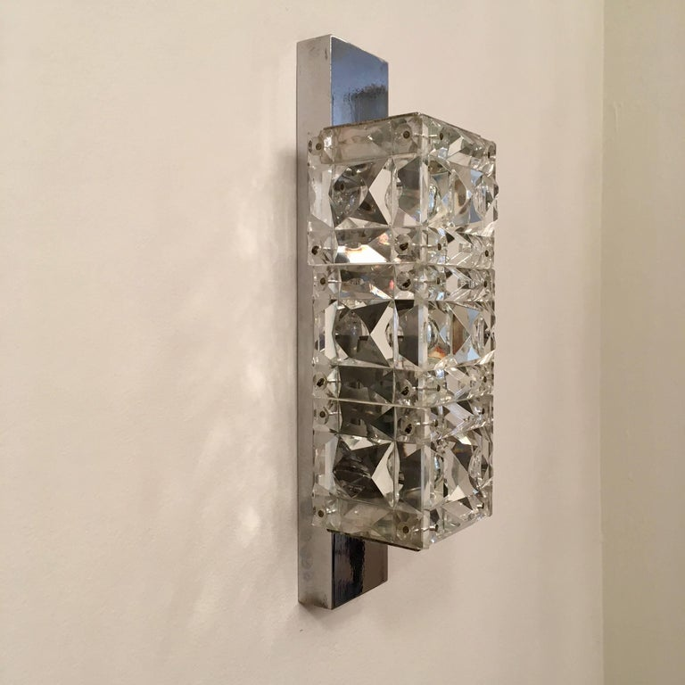 Pair of 1960s Austrian Crystal Kinkeldey Wall Lights For Sale 5