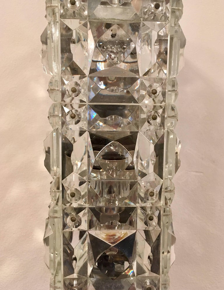 Pair of 1960s Austrian Crystal Kinkeldey Wall Lights For Sale 1