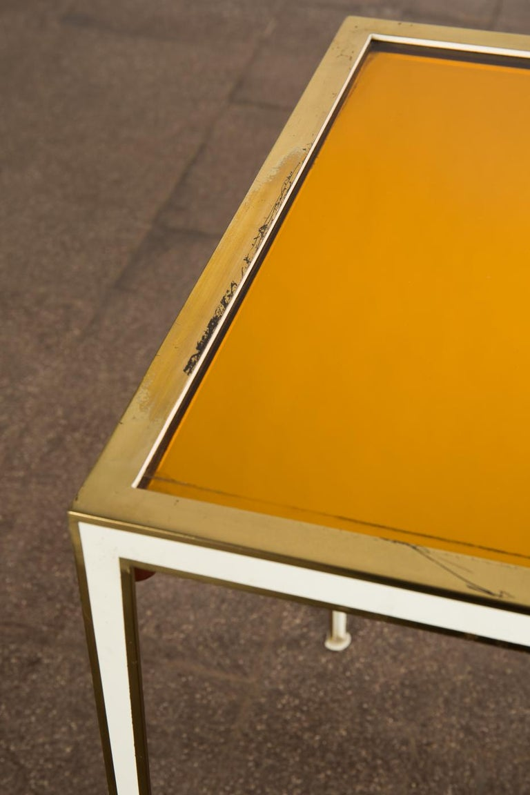 Pair of Mid-Century side tables with Mirror Glass tops by Vereinigte Werkstätten For Sale 1