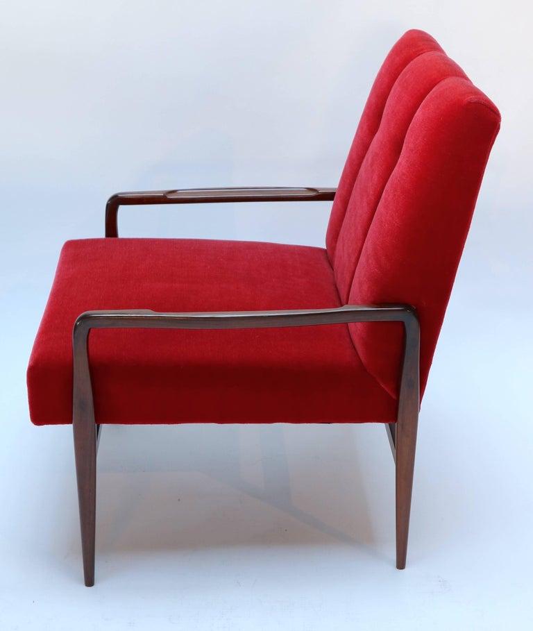 Mid-Century Modern Pair of 1960s Brazilian Jacaranda Armchairs For Sale