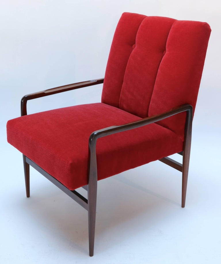 Pair of 1960s Brazilian Jacaranda Armchairs In Good Condition For Sale In Los Angeles, CA