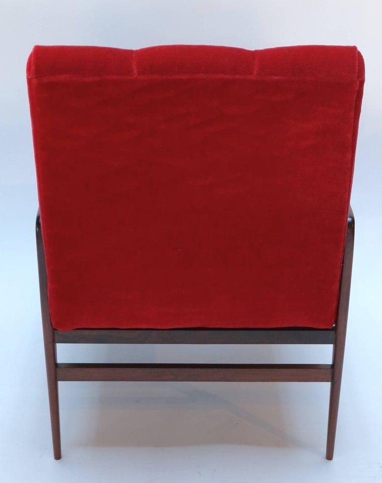 Mid-20th Century Pair of 1960s Brazilian Jacaranda Armchairs For Sale