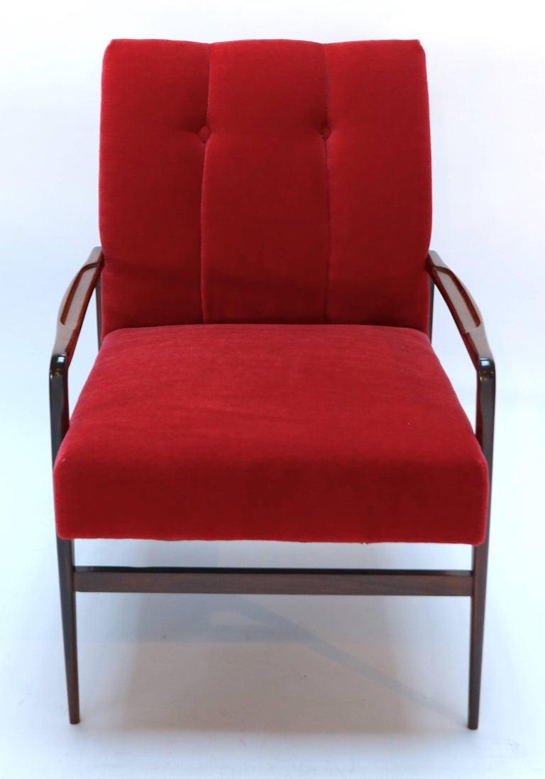 Pair of 1960s Brazilian Jacaranda Armchairs For Sale 1