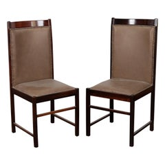 Pair of 1960s Brazilian Tall Back Dining Chairs by Celina Moveis
