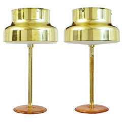 Pair of 1960s Bumling Brass Table Lamps by Anders Pehrson
