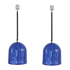 Pair of 1970s Ceiling Lights designed by Gae Aulenti, made by Vistosi, Italy
