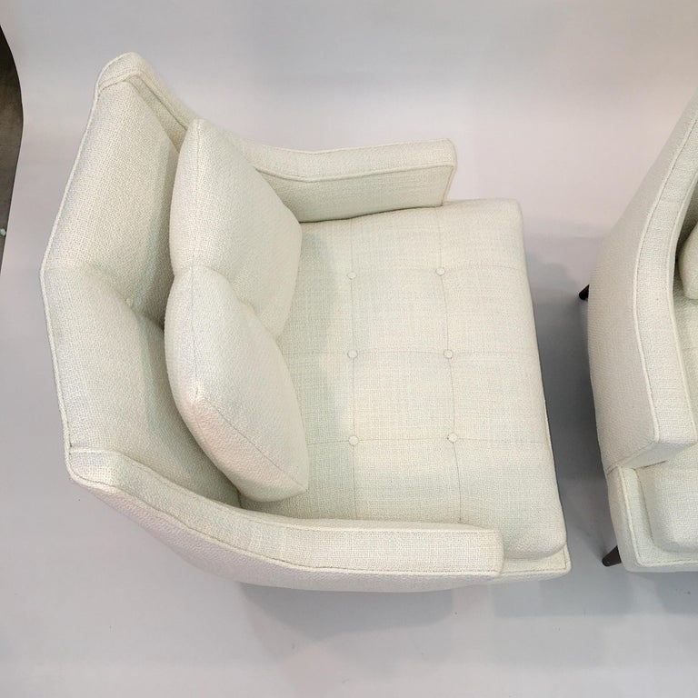 Pair of 1960s Chevron Lounge Chairs For Sale 5