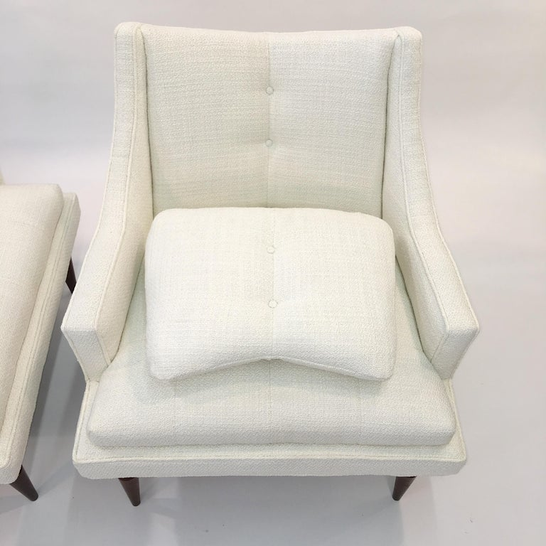 Pair of 1960s Chevron Lounge Chairs For Sale 6