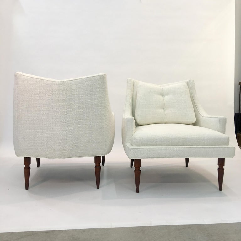 Pair of 1960s Chevron Lounge Chairs For Sale 7