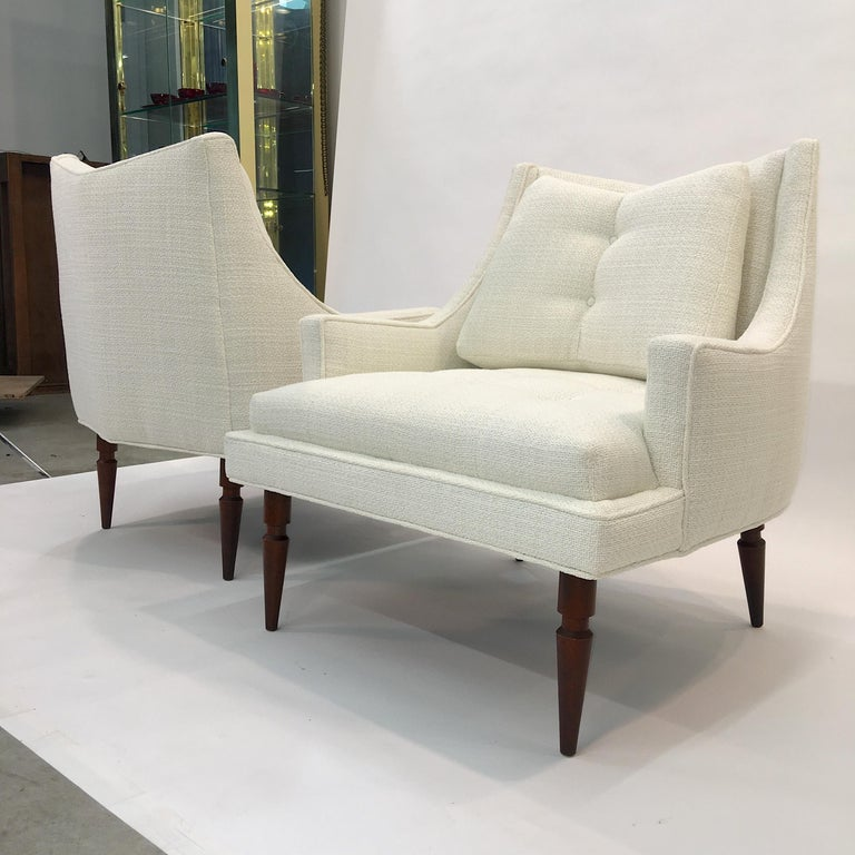 Pair of 1960s Chevron Lounge Chairs For Sale 8