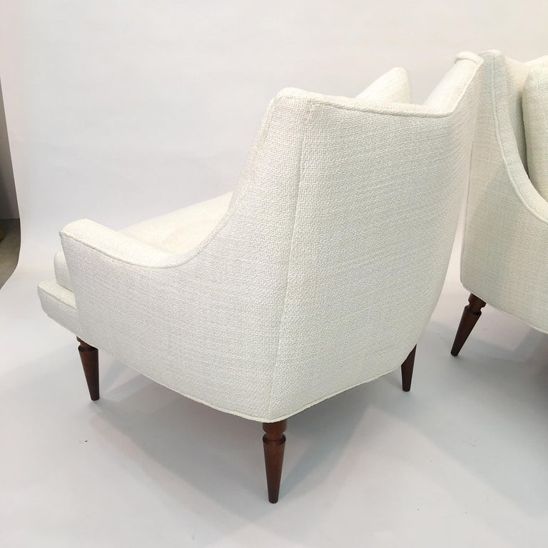 Pair of 1960s Chevron Lounge Chairs For Sale 9