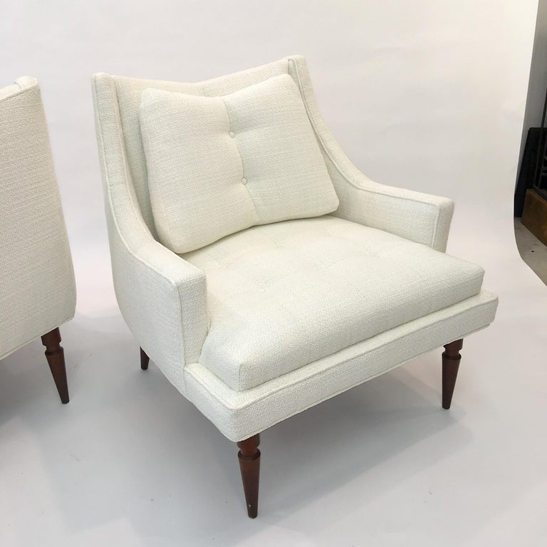 Pair of 1960s Chevron Lounge Chairs For Sale 10