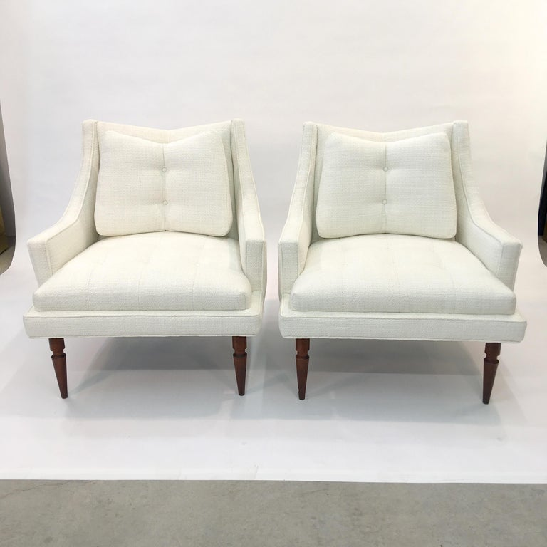 American Pair of 1960s Chevron Lounge Chairs For Sale