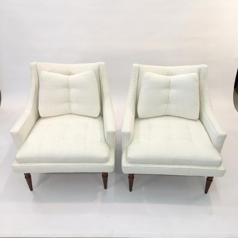 Turned Pair of 1960s Chevron Lounge Chairs For Sale