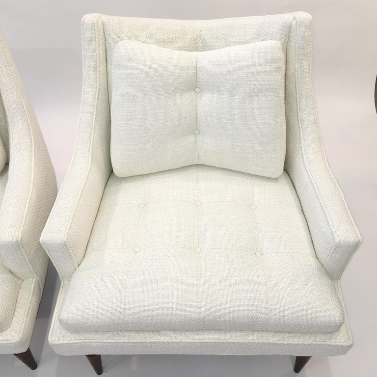Mid-20th Century Pair of 1960s Chevron Lounge Chairs For Sale