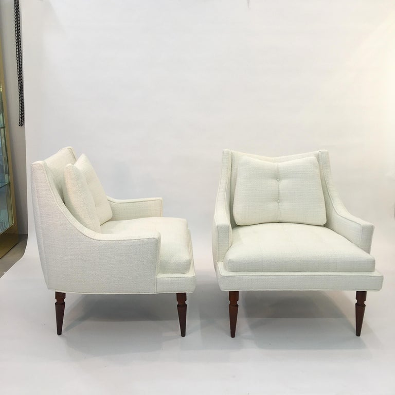 Pair of 1960s Chevron Lounge Chairs For Sale 2