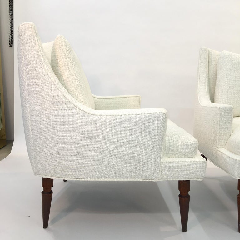 Pair of 1960s Chevron Lounge Chairs For Sale 4