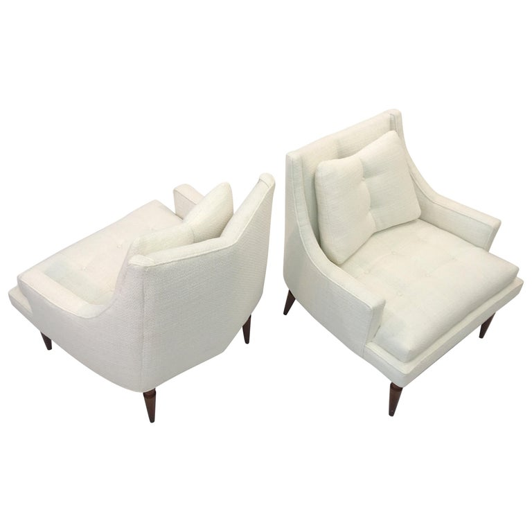 Pair of 1960s Chevron Lounge Chairs For Sale