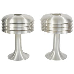 Pair of 1960s Chrome Table Lamps by Hans-Agne Jakobsson