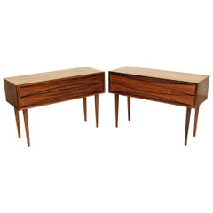 Pair of 1960s Danish Rosewood Side Table Nightstands by Niels Clausen