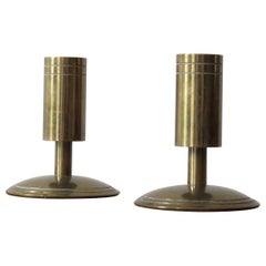 Pair of 1960s DanPresent Danish Brass Candle Holders