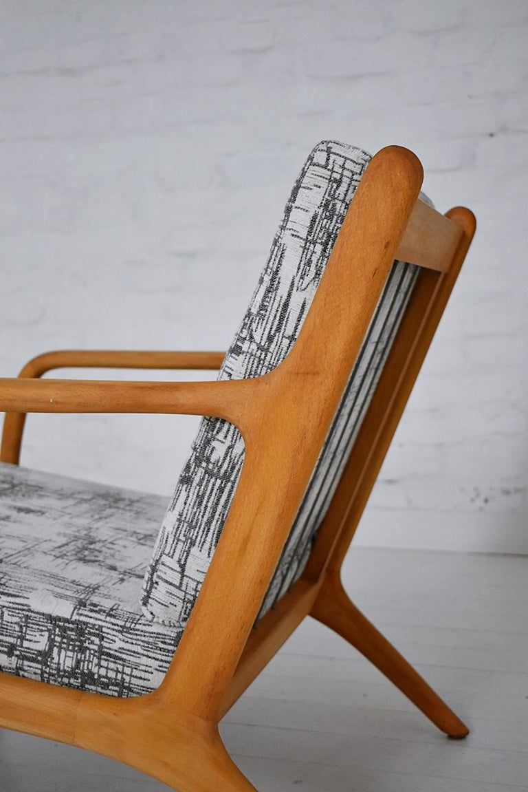 Pair of 1960s Easy Chairs in Style of Adrian Pearsall For Sale 5