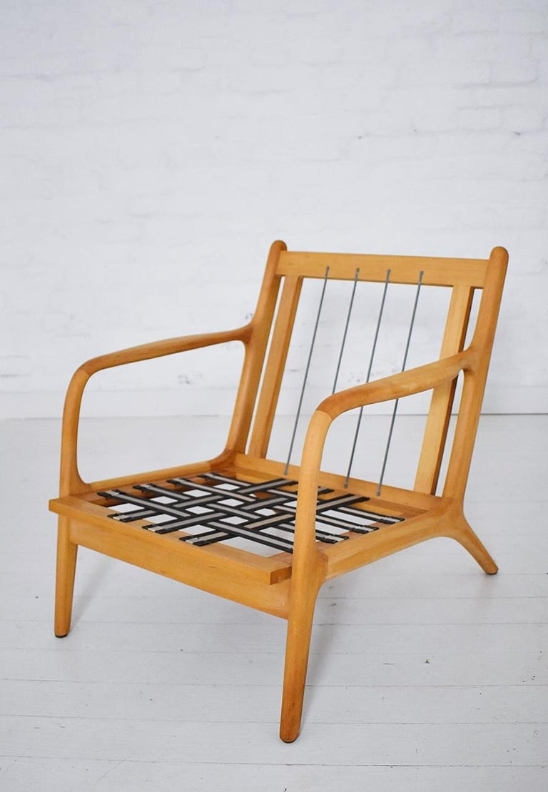 Pair of 1960s Easy Chairs in Style of Adrian Pearsall For Sale 8