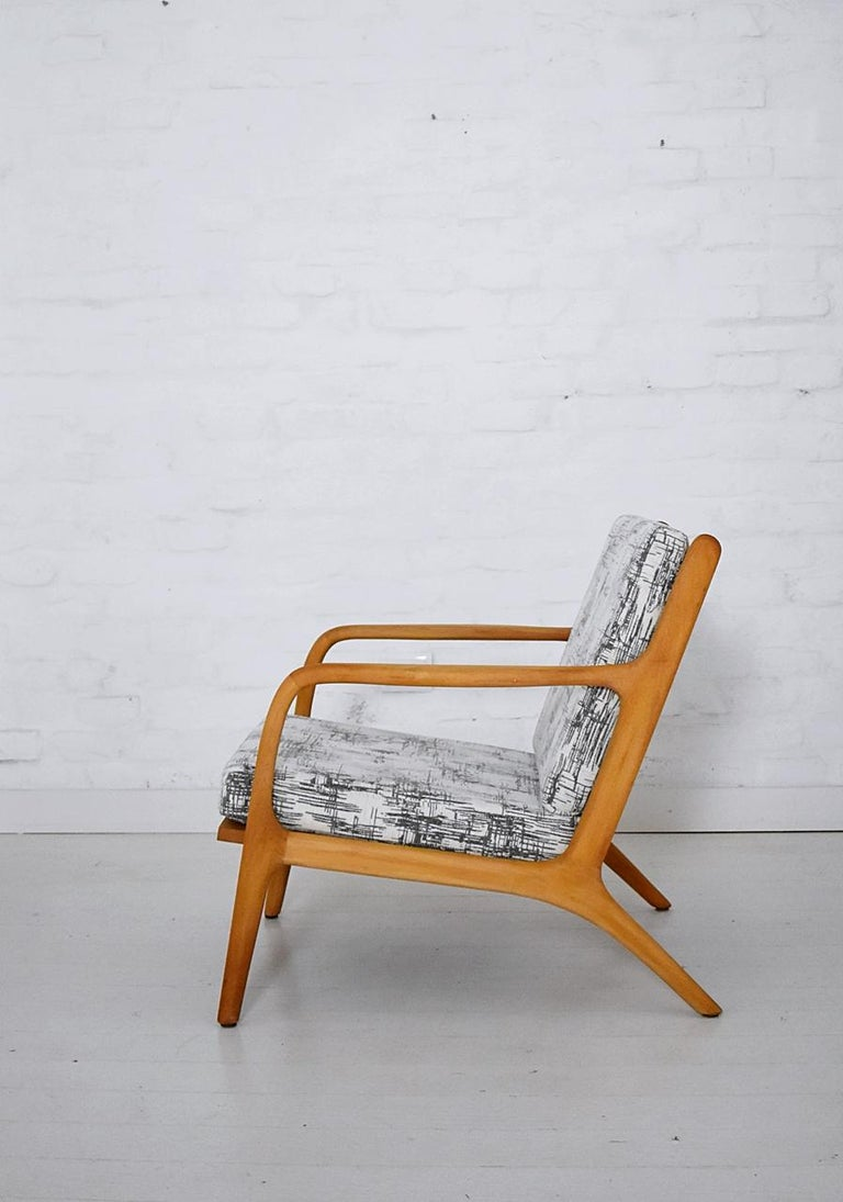 European Pair of 1960s Easy Chairs in Style of Adrian Pearsall For Sale