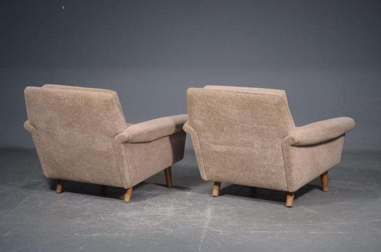 Danish Pair of 1960s Easy Lounge Chairs Model Diplomat by Aage Christiansen for ERAN For Sale