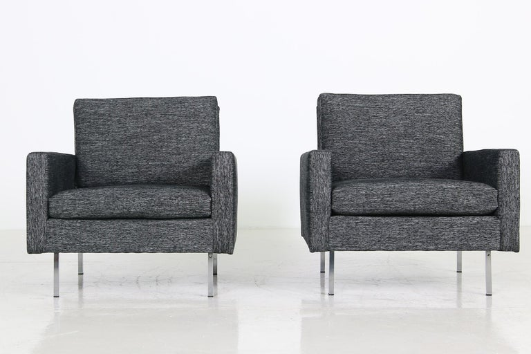 Mid-20th Century Pair of 1960s Florence Knoll Lounge Chairs Model 25 BC Knoll International '2' For Sale