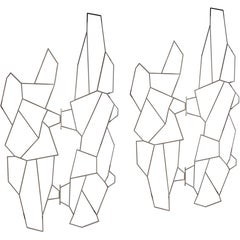 Pair of 1960s Geometric Metal Screens by Pedro Ramirez Vasquez