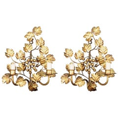 Pair of 1960s Grapevine Sconces Maison FlorArt