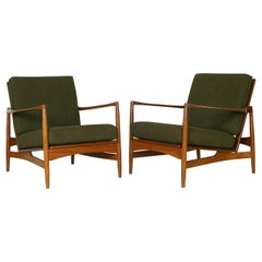"Pair of 1960s Ib Kofod Larsen G Plan ""Danish Range"" Afrormosia Lounge Chairs"