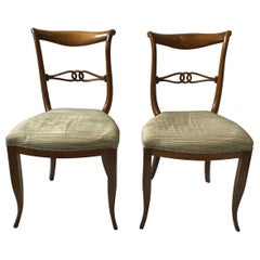 Pair of 1960s Italian Classical Side Chairs