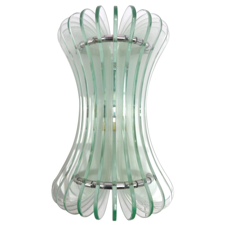 Pair of 1960s Italian Glass Sconces