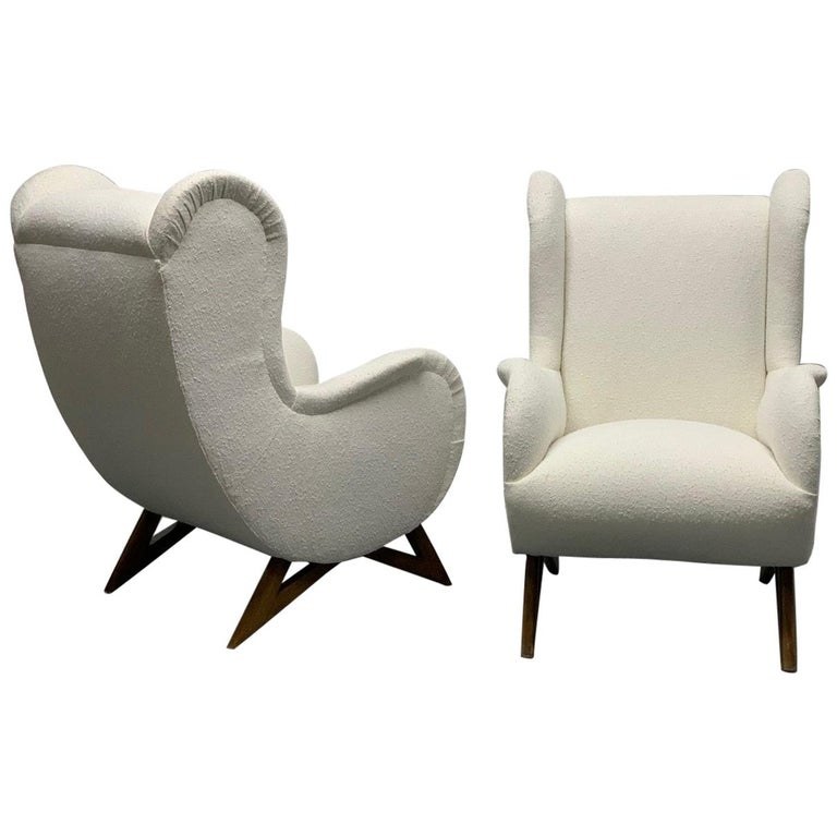 Pair of 1960s Italian Lounge Chairs For Sale