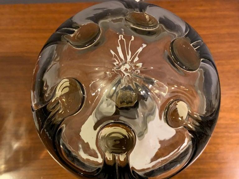 Pair of 1960s Kaiser Leuchten Mazzega Globe Glass Conical Based Table Lamps For Sale 3