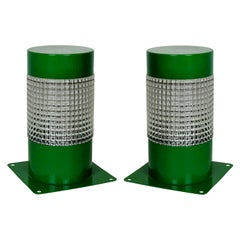 Pair of 1960s Lights in Emerald Green
