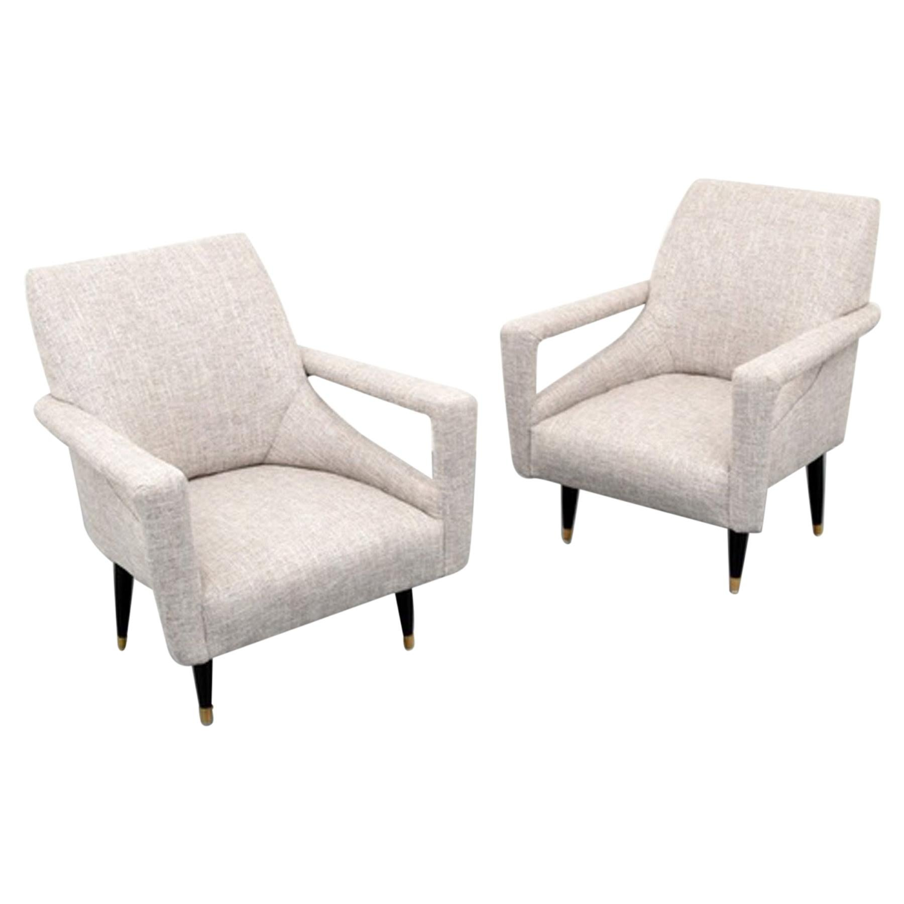 Pair of 1960's Lounge Chairs in Manner of Ico Parisi