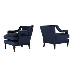 Pair of 1960s Regency Lounge Chairs